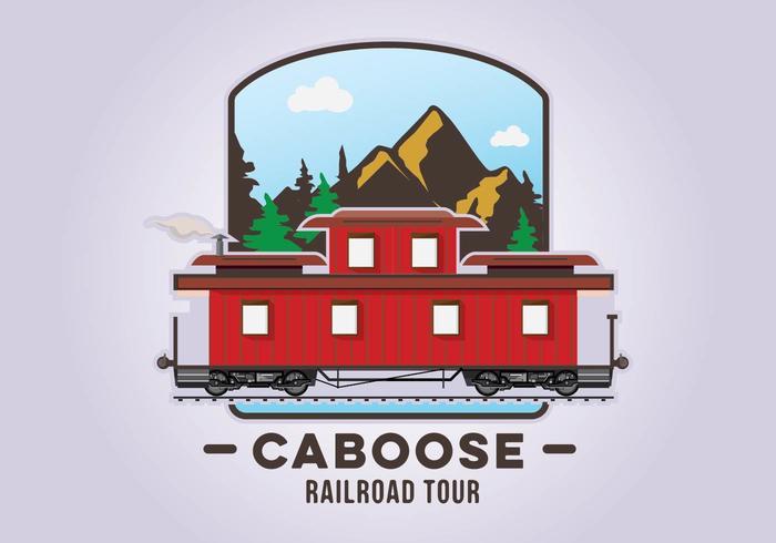 Caboose Railroad Illustration