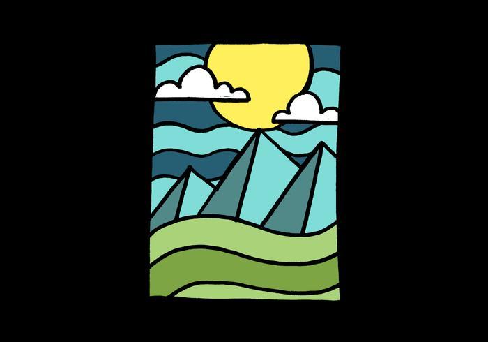 Montanhas e paisagem lunar