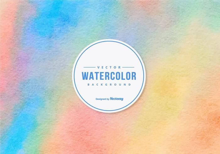 Kleurrijke Waterverf Vector Achtergrond