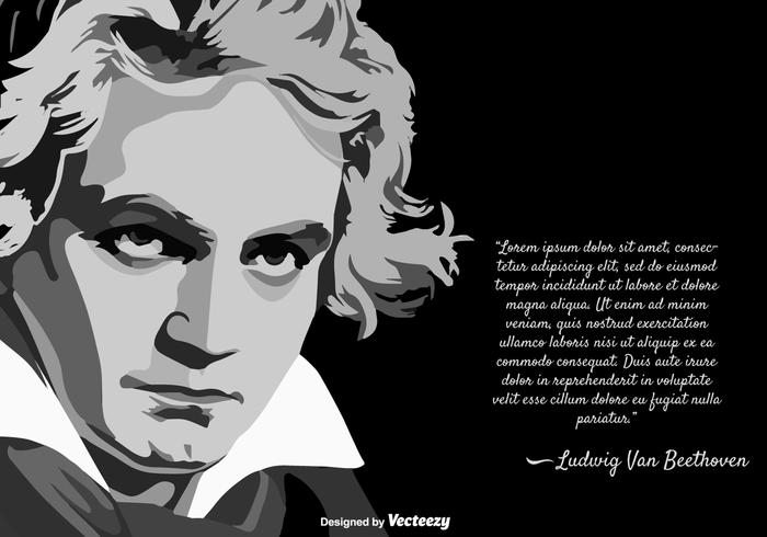 Vector Template Of The Musician Ludwig Van Beethoven