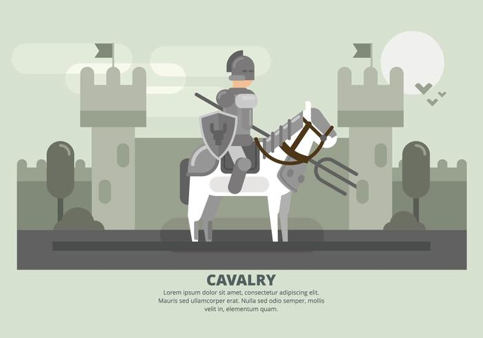 Cavalerie Illustratie vector