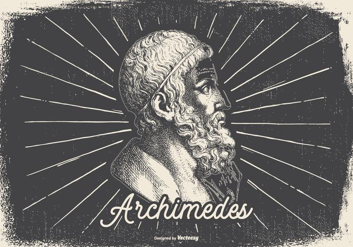 Vintage Illustration von Archimedes