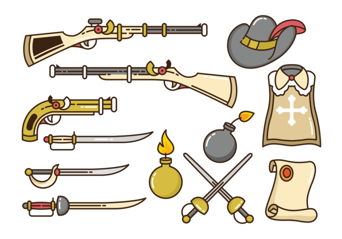 Musketier Icons Vektor
