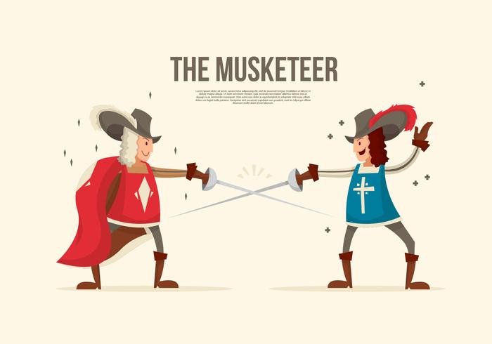 The Battle Musketeer Vector Illustration