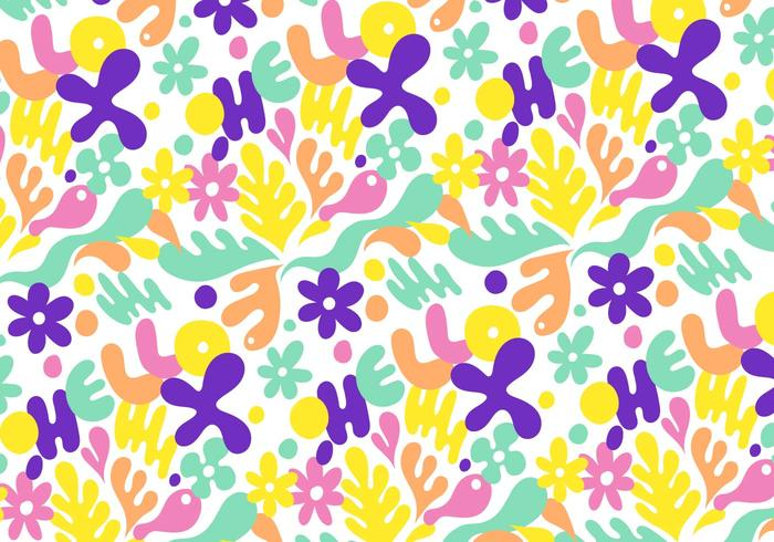 Abstract blob floral pattern