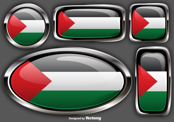 Vector Gaza Strip Badges Of Gaza Palestine Flag