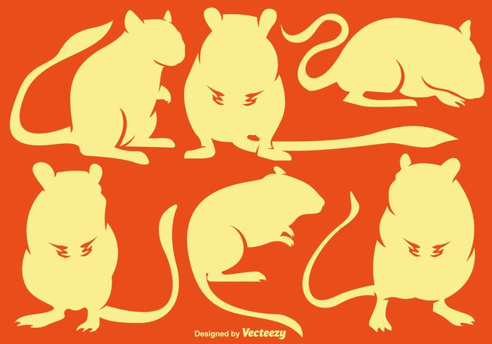 Vector Set Of Gerbil Silhouettes
