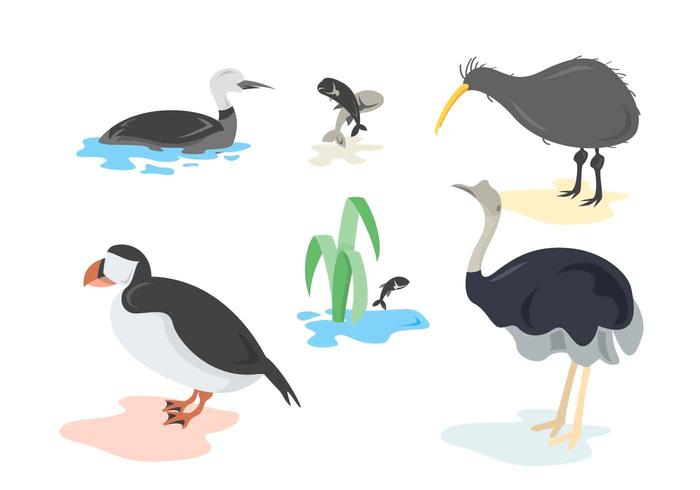 Gratis Unieke Loon Bird Vectors