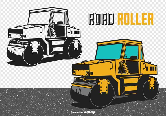 Road Roller Vektor-Illustration vektor
