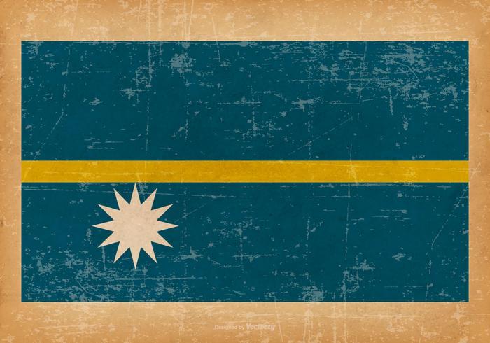 Grunge Flagge von Nauru vektor