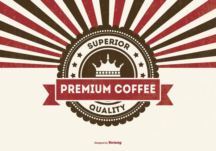 Retro Premium Koffie Achtergrond