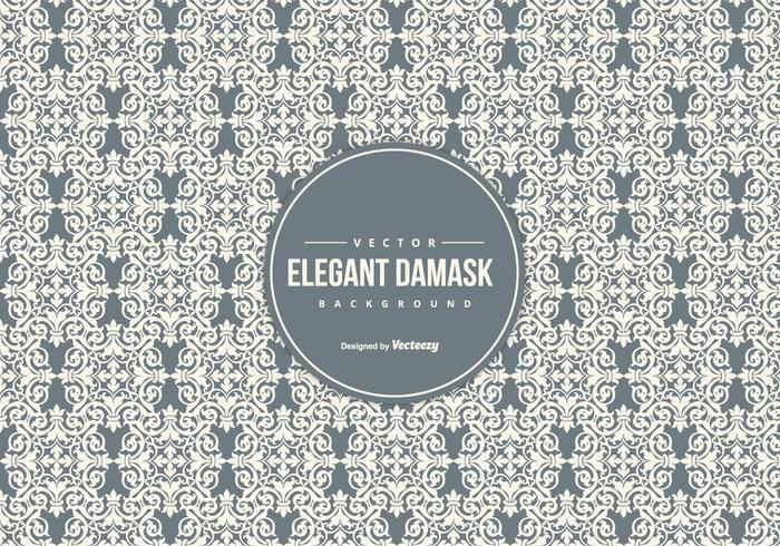 Elegant Vintage Damask Background