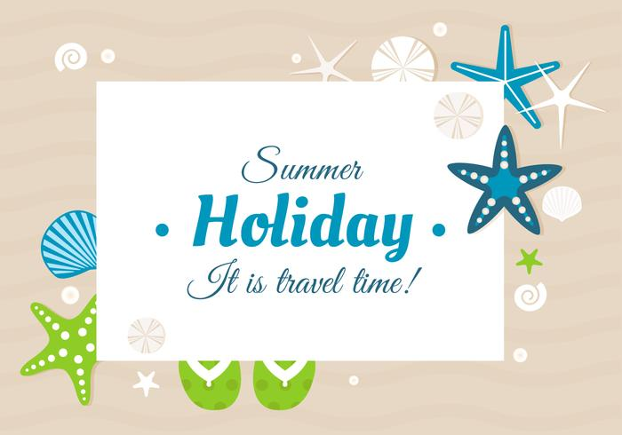 Free Design Vector Summer Time Greeting Card