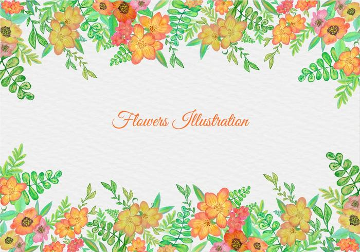 Free Vector Watercolor Floral Frame