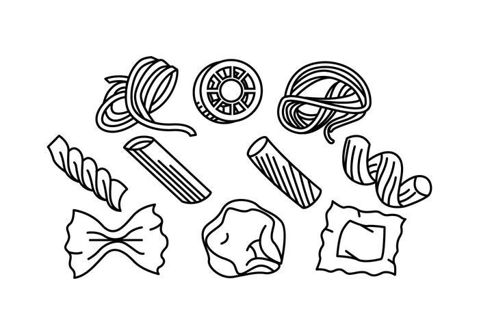 Vecteur libre d'icône de ligne de pâtes