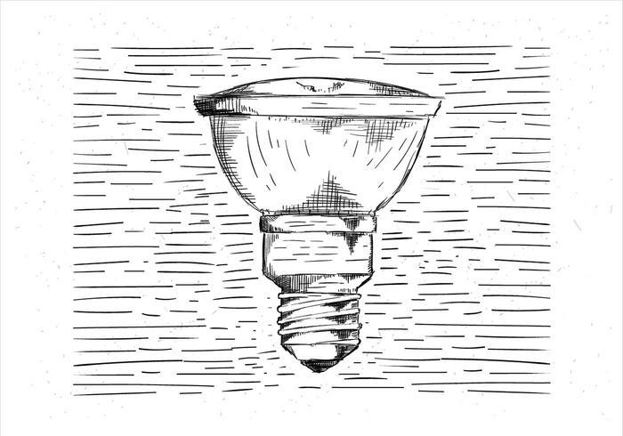 Freie Hand gezeichnete Vektor Glühbirne Illustration