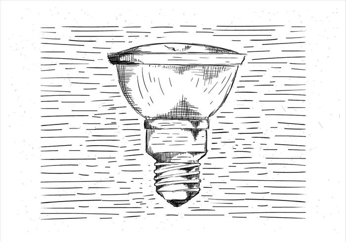 Free Hand Drawn Vector Lightbulb Illustration