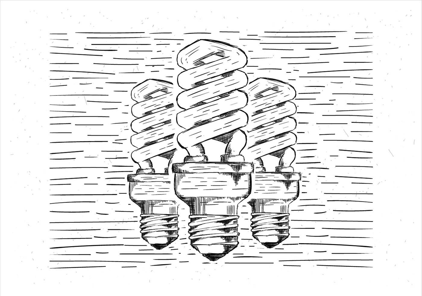 free vector hand drawn lightbulb illustration