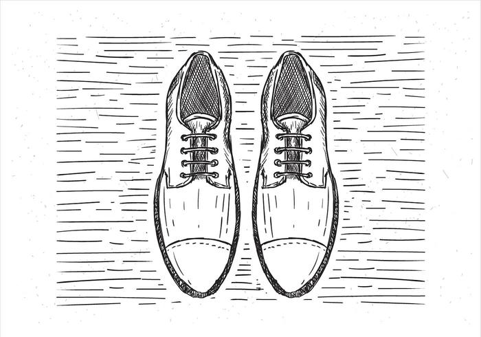 Gratis Vector Hand Drawn Shoes Illustration