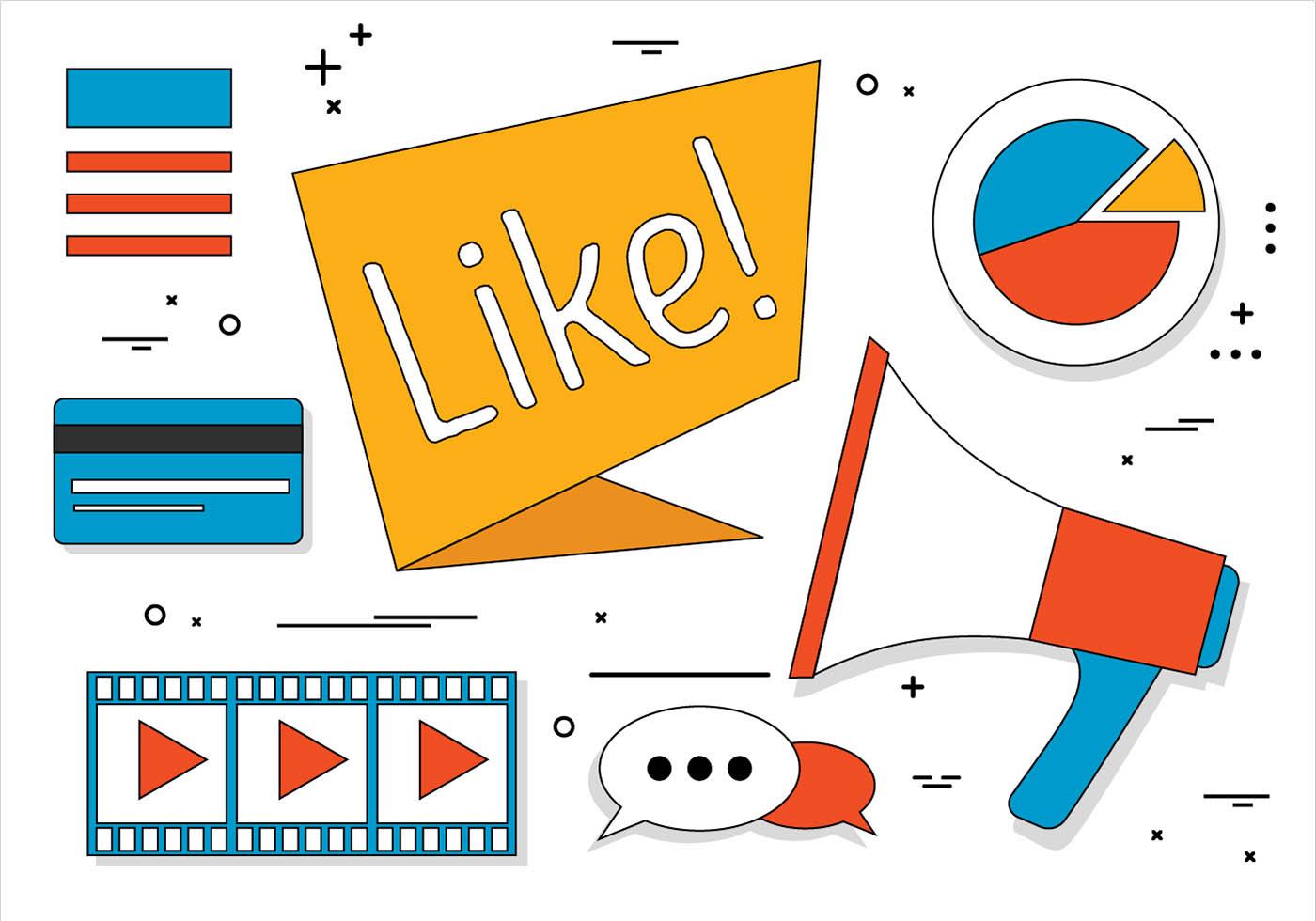 Free Flat Design Vector Social Media Icons Download Free Vectors Clipart Graphics Vector Art
