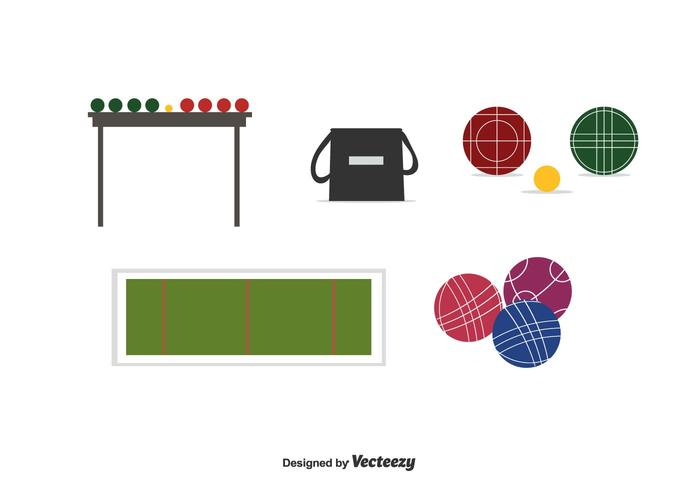 Bocce Vector Set