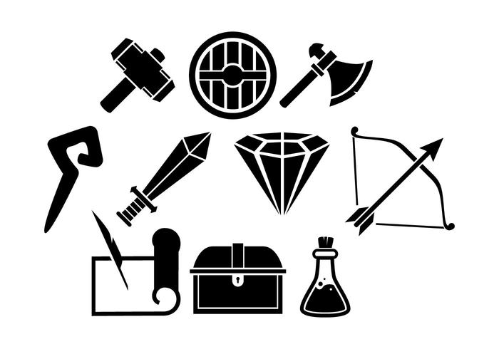 Gratis Spel RPG Line Icon Vector