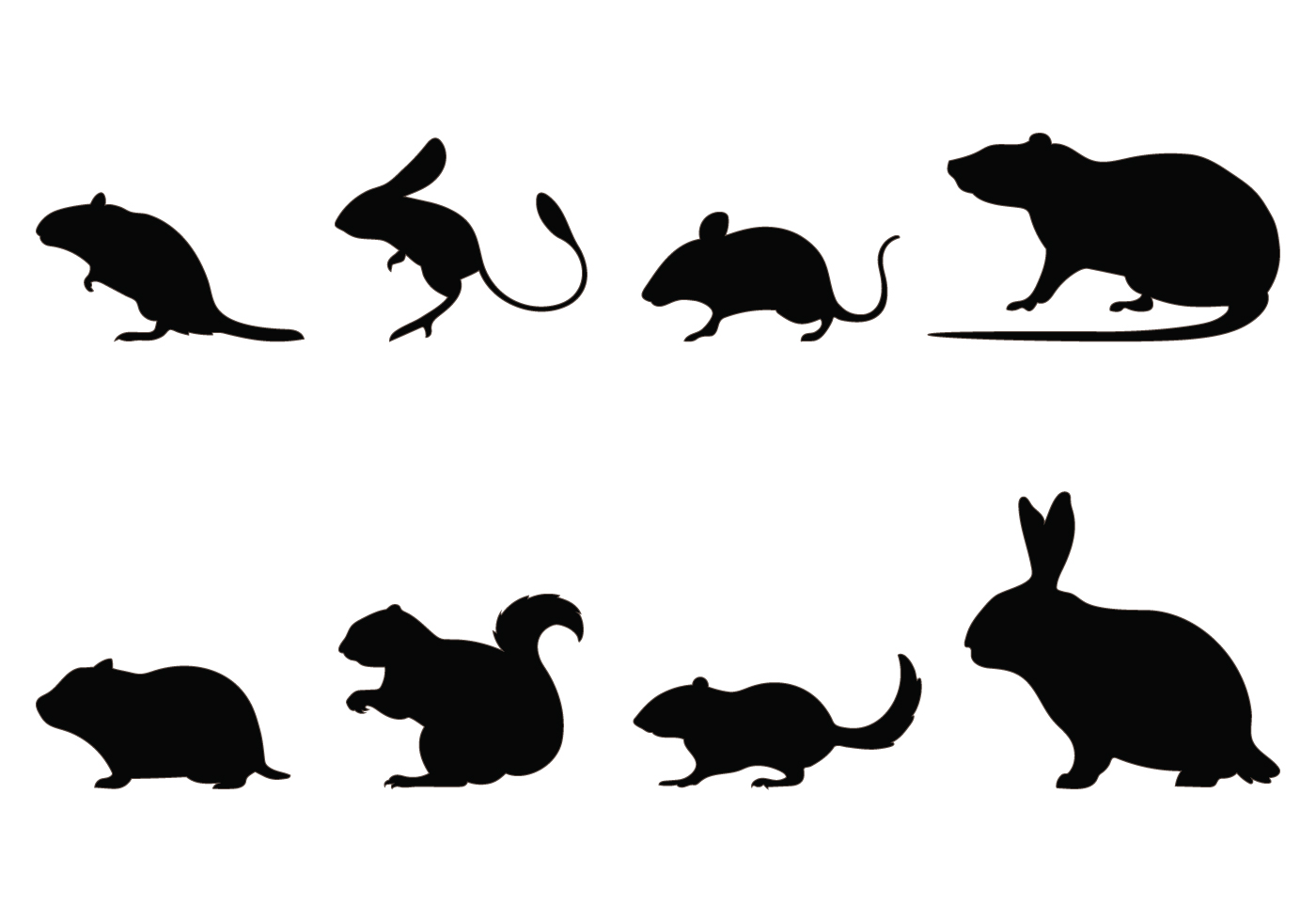Rodent Silhouettes Download Free Vector Art Stock