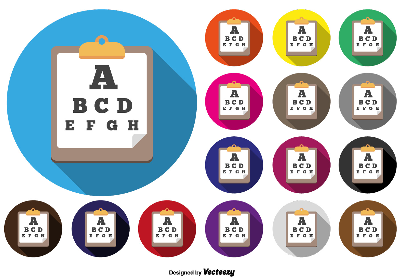Vector eyes test charts download free vector art stock graphics vector eyes test chart icon colorful buttons geenschuldenfo Image collections