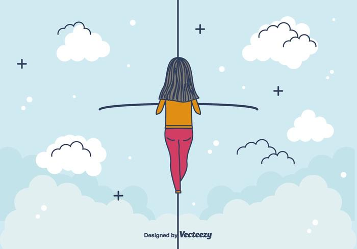 Tightrope Walker Vector