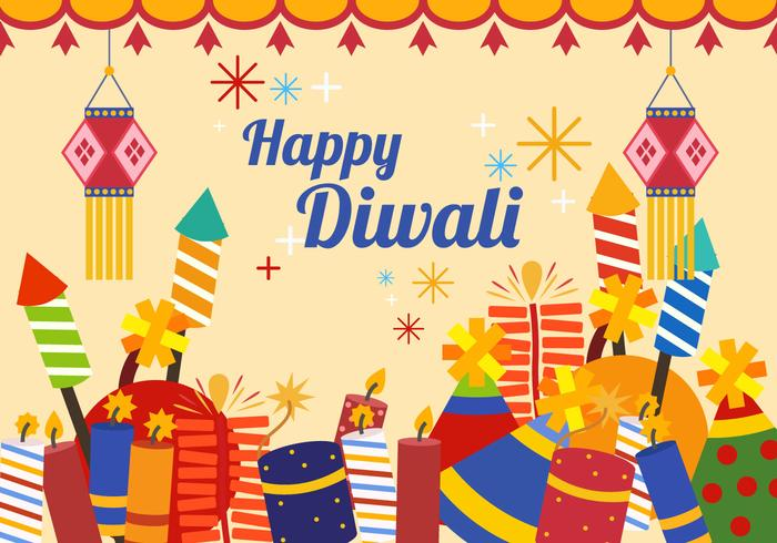 Diwali indian firande vektor