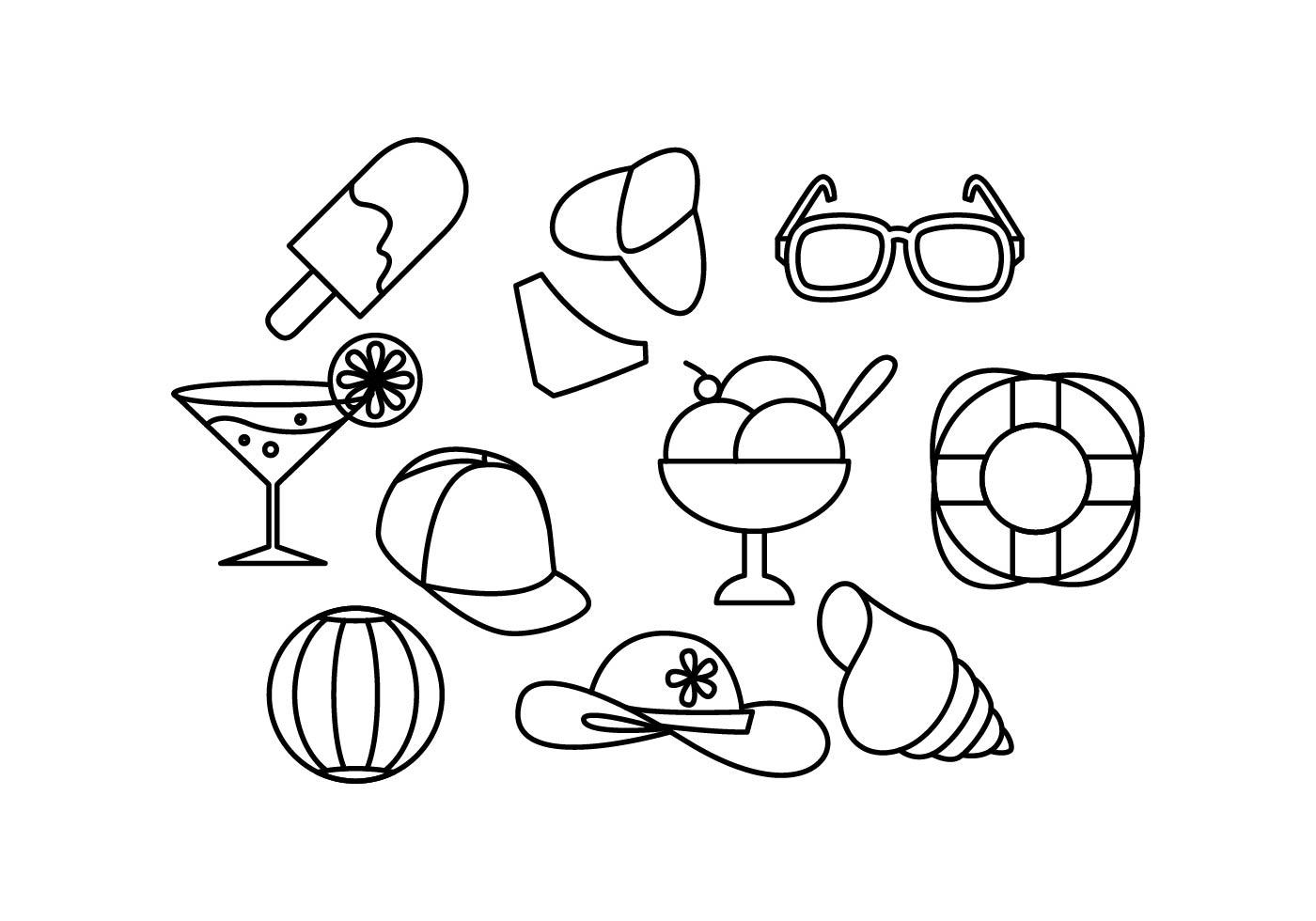 Free Summer Line Icon Vector - Download Free Vectors ...