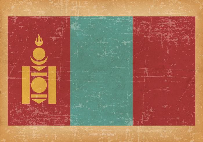 Grunge Flag of Mongolia