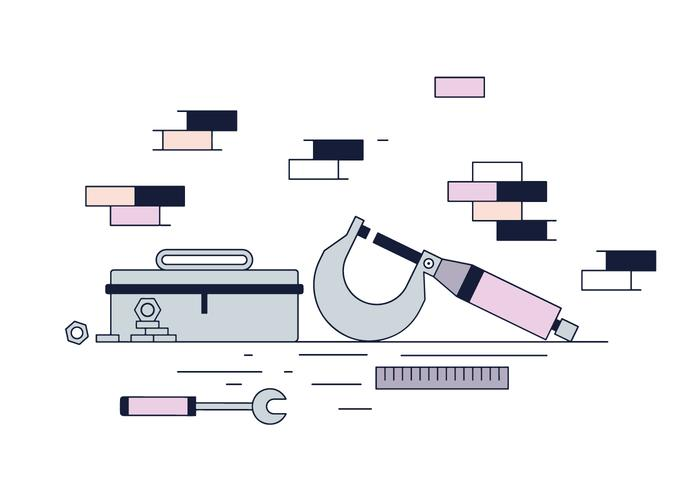 Free Micrometer e Toolbox Vector