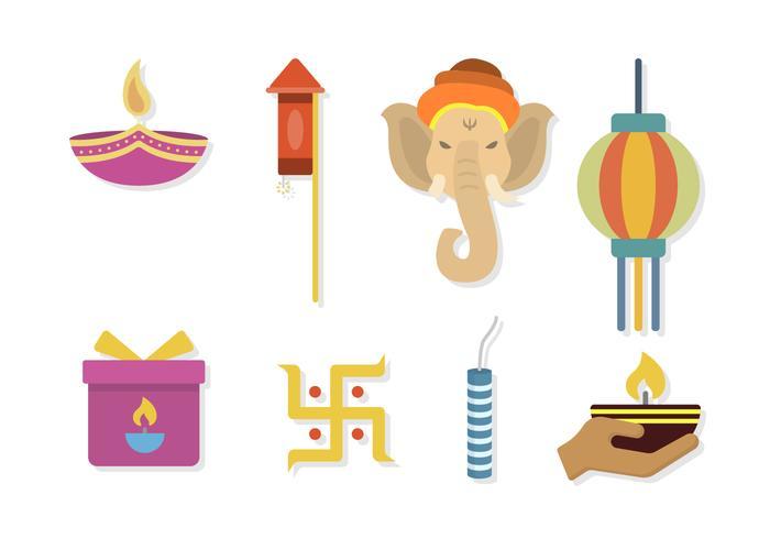 Plano Diwali Vectores