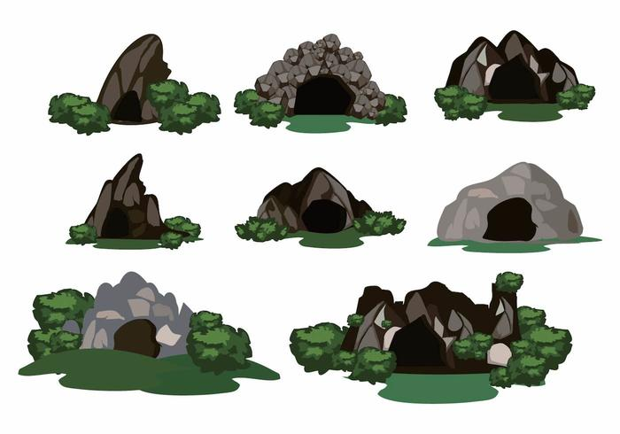 Fri Cave Scene Deep Forest Vector