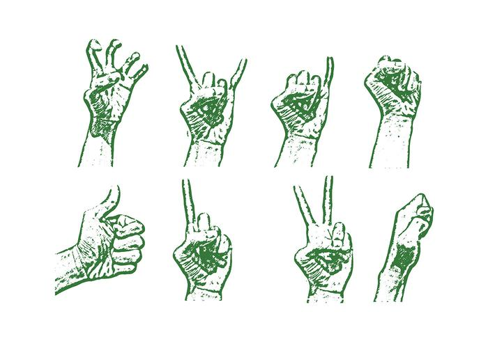 Lithograph Hand Vector