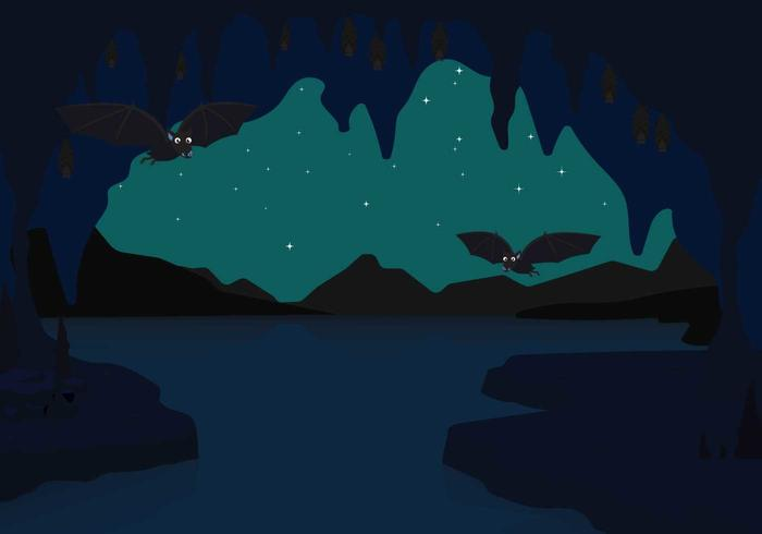 Gratis flaggor i grottan illustrationen