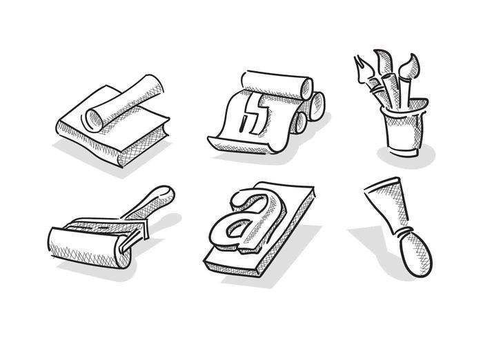 Vectores libres de la litografía de la vendimia