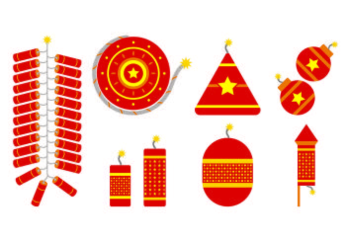 Vector Of Diwali Fire Crackers