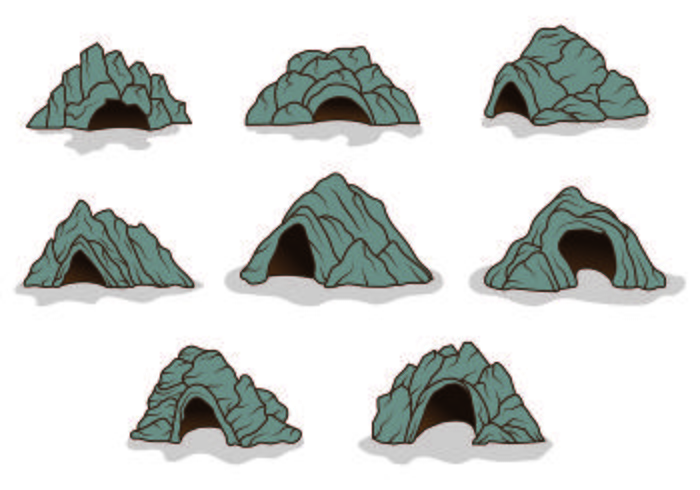 Set Of Cavern Icons