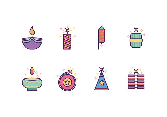 Free Diwali Icons vector