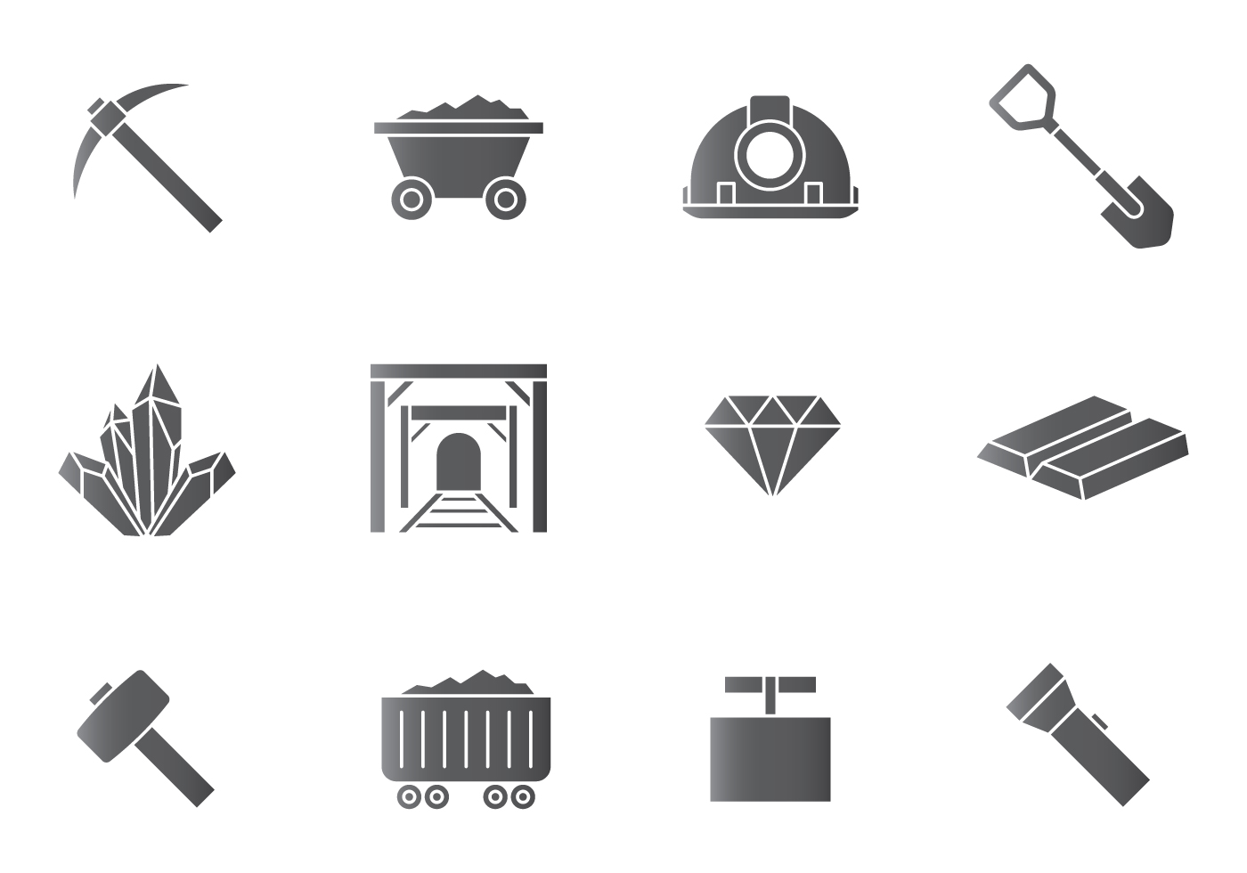 Mining Icons Download Free Vector Art Stock Graphics