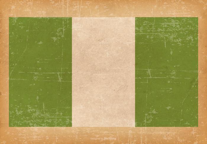 Grunge Flag of Nigeria