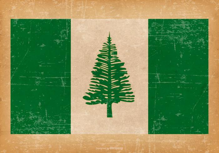 Grunge Flag of Norfolk Island