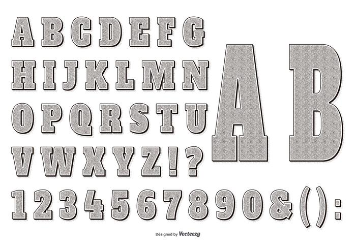 Retro Gravure Style Alphabet Collecttion