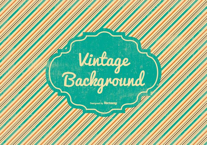 Retro Background with Blank Label
