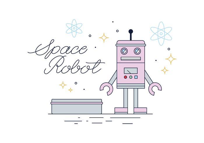 Vecteur de robot en étain gratuit