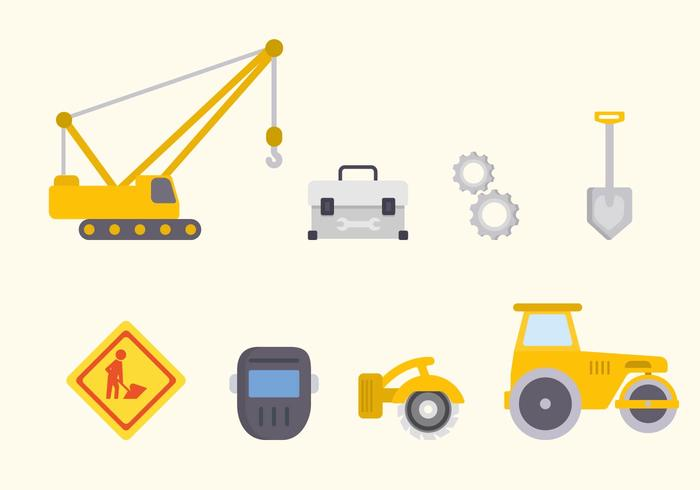 Flat Road Construction Vectors