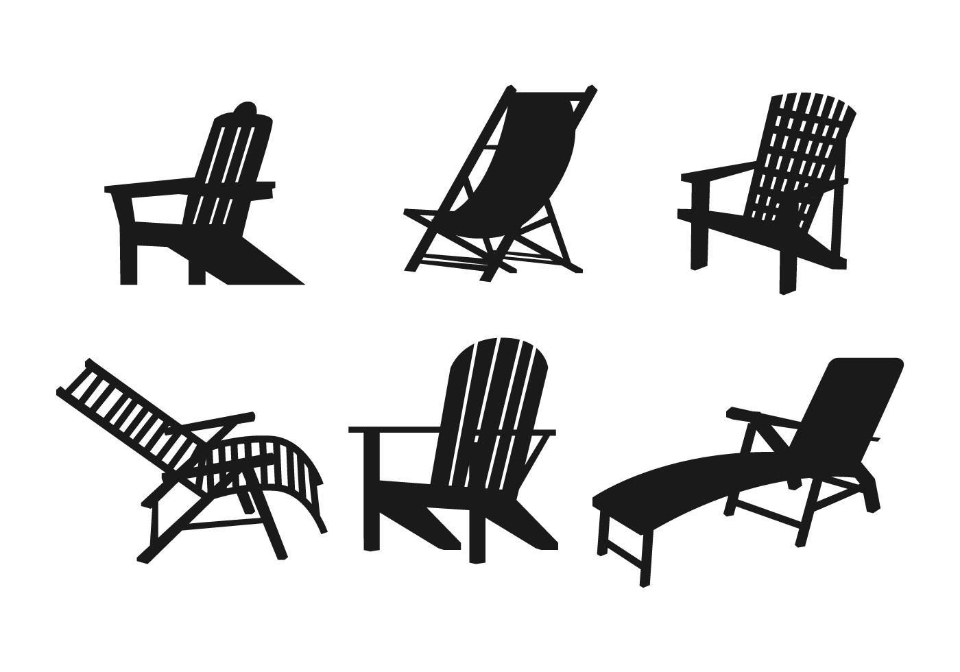 Lawn Chair Vector Set Download Free Vectors Clipart