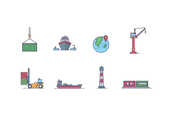 Shipping Logistics Icons